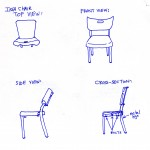 chair cross-section sketch