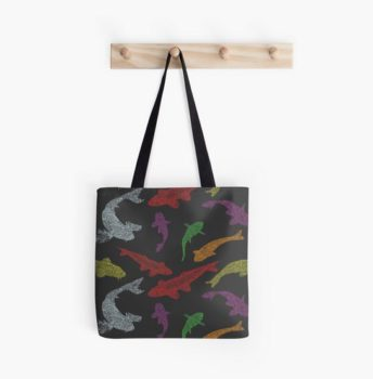 Koi Tote Bag by Zandra Kubota