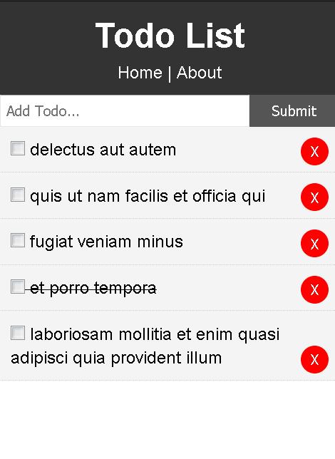 screenshot of To-do checklist app