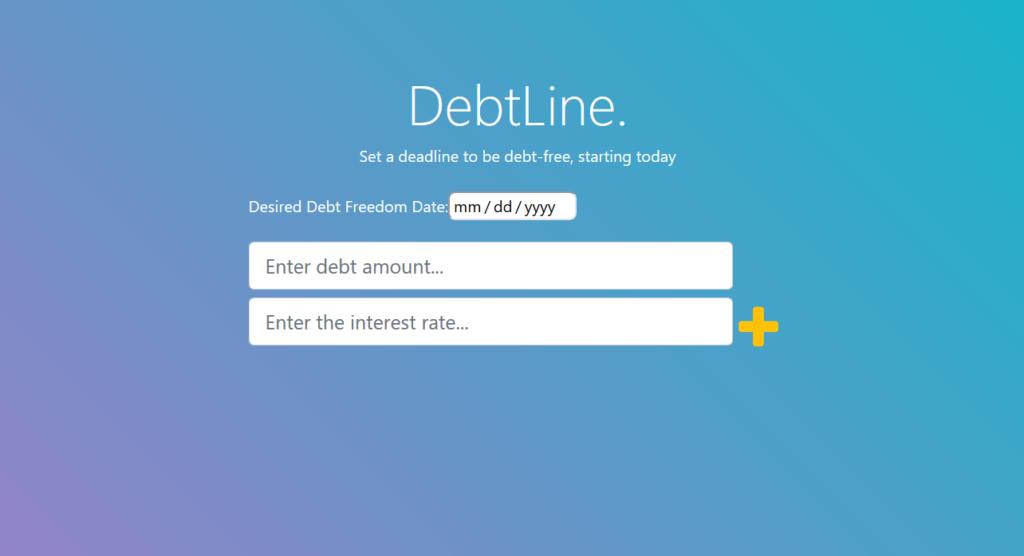 Debtline App Screenshot